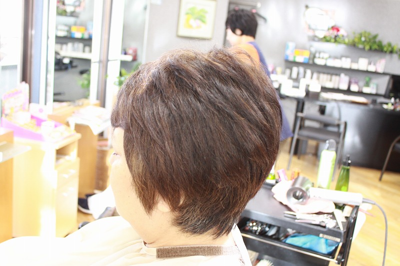 仕上がり ショートスタイル 多毛 くせ毛 硬毛 広がるくせ