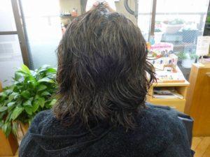ビフォー ご来店時 ショートスタイル 多毛 くせ毛 硬毛 広がるくせ