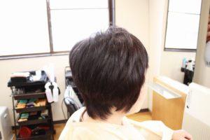 アフター くせ毛ブローレスカット ハンドドライ 頭の形がきれいに