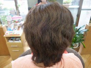 過去写真 くせ毛で収まらなくてお悩み
