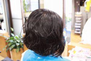 ウェット時のくせ毛の状態(過去写真)