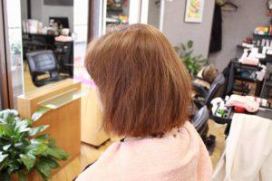 最初のご来店時 ビフォー くせ毛 髪の傷み