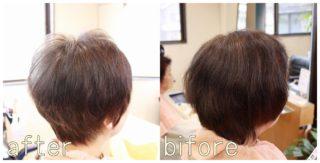 ビフォーアフター 髪のボリューム 加齢毛のお悩み解消