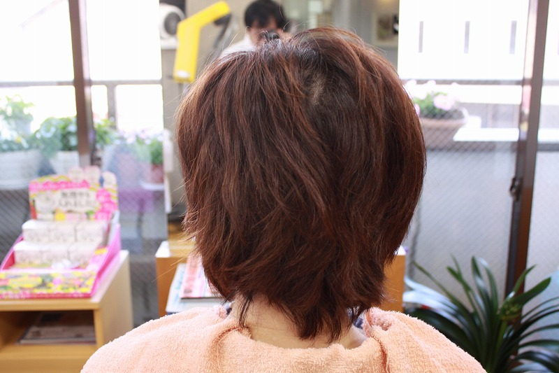 ご来店時 ビフォー くせ毛 はえ癖 つむじ割れ