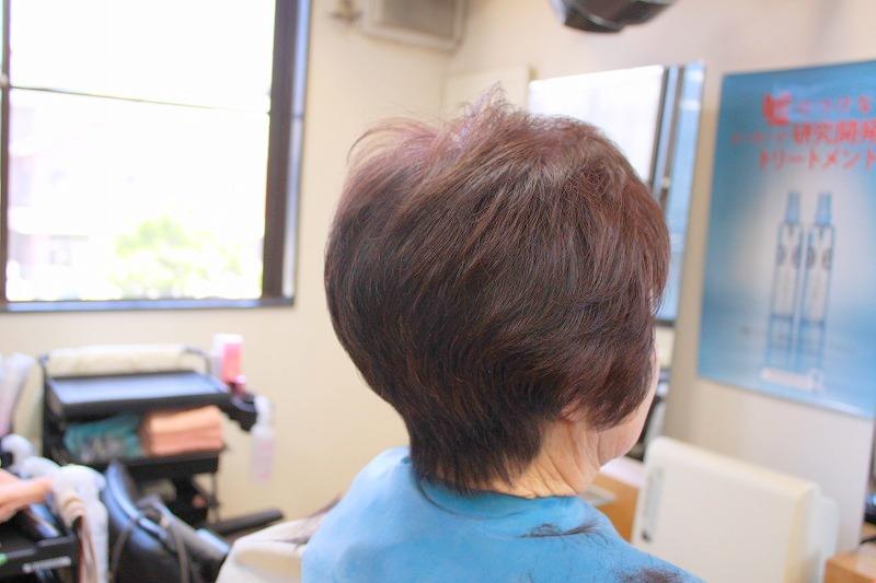 カット後そのまま 毛流補正でふんわり
