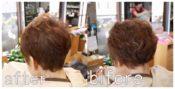 ビフォーアフター 手ぐしドライ 毛流補正 くせ毛ブローレスカット