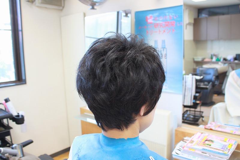 カット後そのまま くせ毛ブローレスショートスタイル