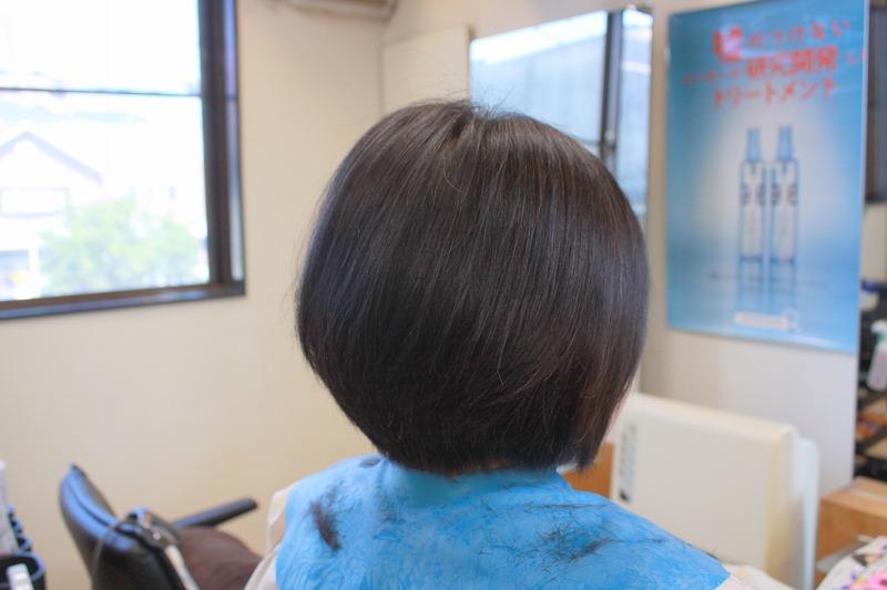 カット後そのまま 直毛の方の奥行きを出すカット