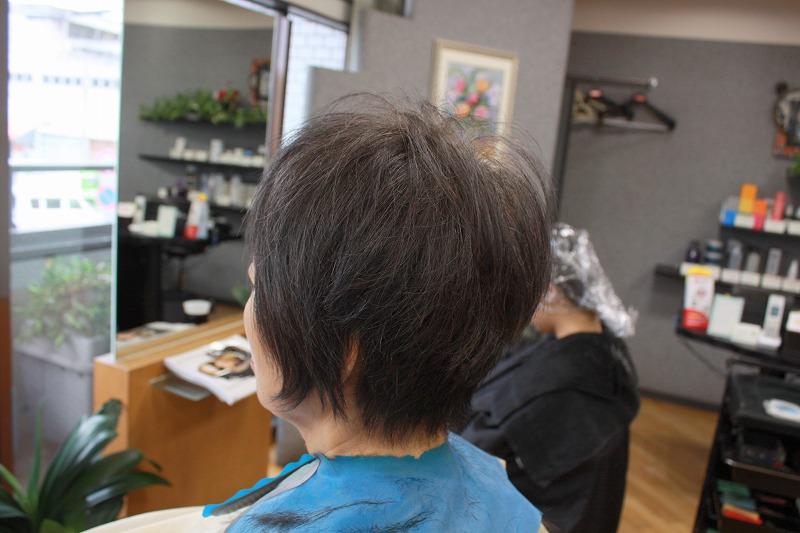 カット後そのまま 髪がふんわり動く